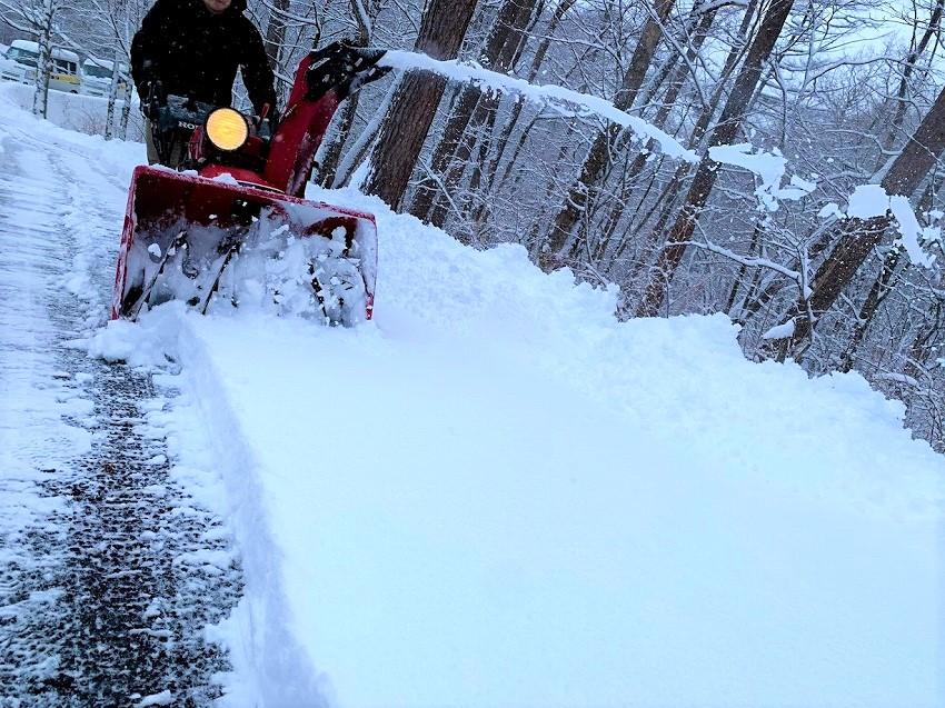 軽井沢 雪かき