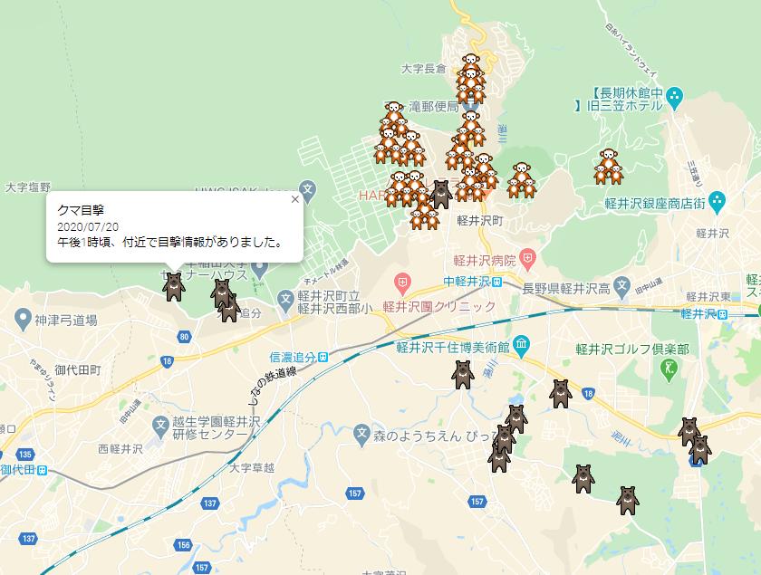 軽井沢 猿 熊